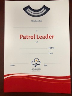 Certificate - Patrol Leader Formal